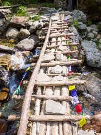 stones hold the bridge in place