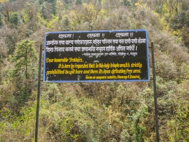 The Himalayas are sacred to the Nepalese