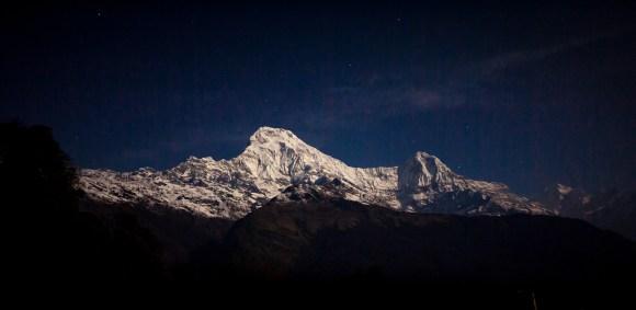 Dawn view of Machapuchare
