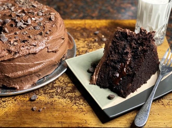 Vegan Double Dark Chocolate Cake