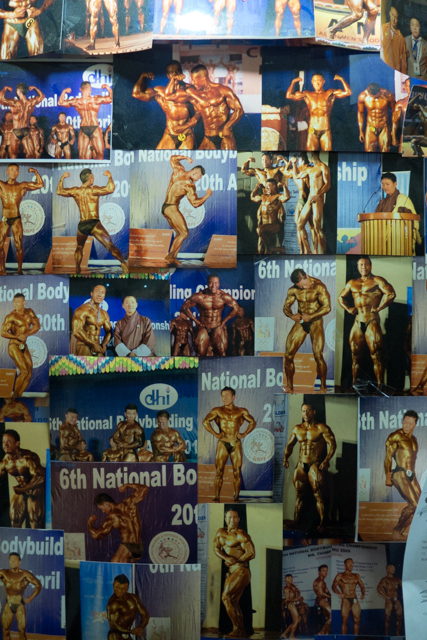 Bhutanese body builders.
