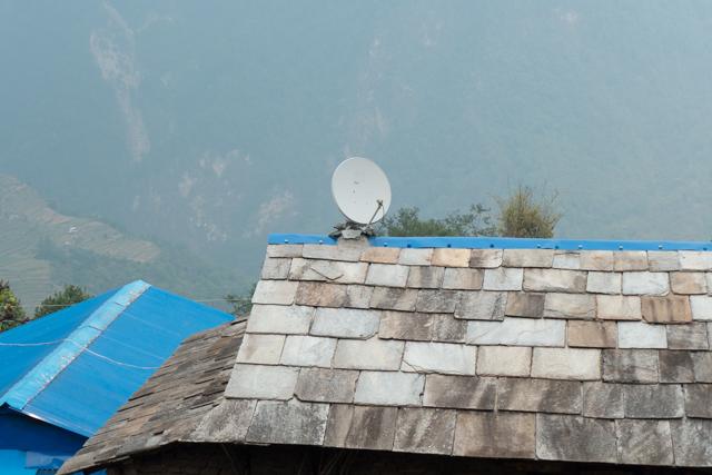 The ever-present satellite dish.
