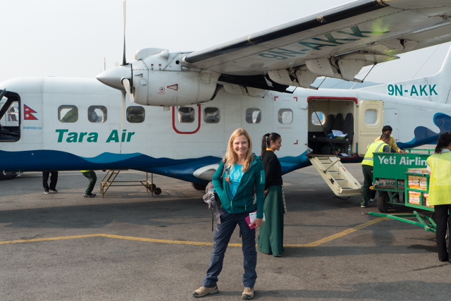 Our transportation to Lukla from Kathmandu.  We caught the last plane out - it carried cargo and us.