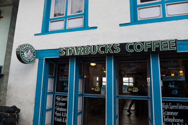 Yes, there is a Starbucks in Lukla.