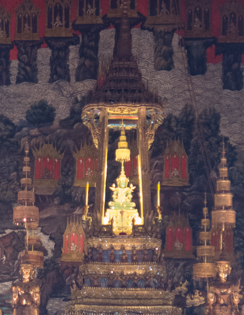 This Buddha clothes are made from 24 carat gold.