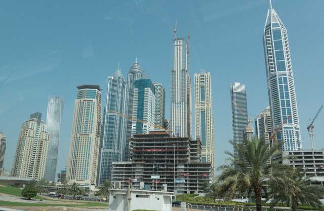 Dubai skyline today.
