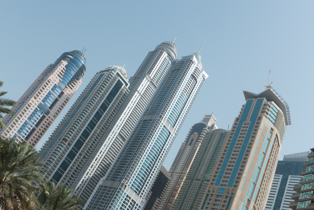 Dubai's central business district.