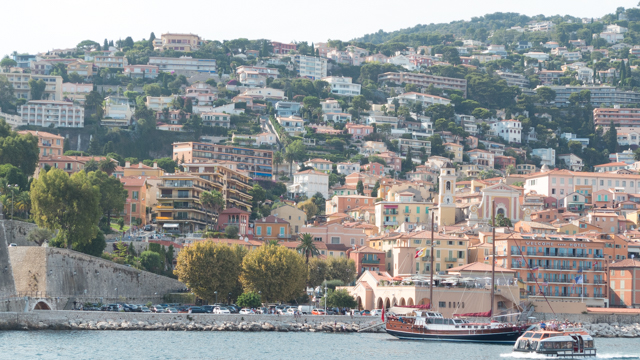 View of Villafranche from the  harbor.