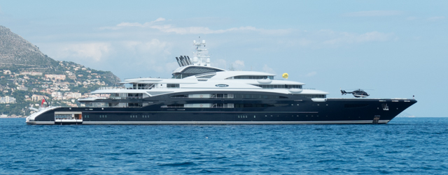 Serene is one of the world's 10 largest private superyachts with an overall length of 440 feet and a beam of 60 feet. Completed in 2011 for Russian vokda tycoon Yuri Scheffler  (Stolichnaya vodka), it cost $330 million.