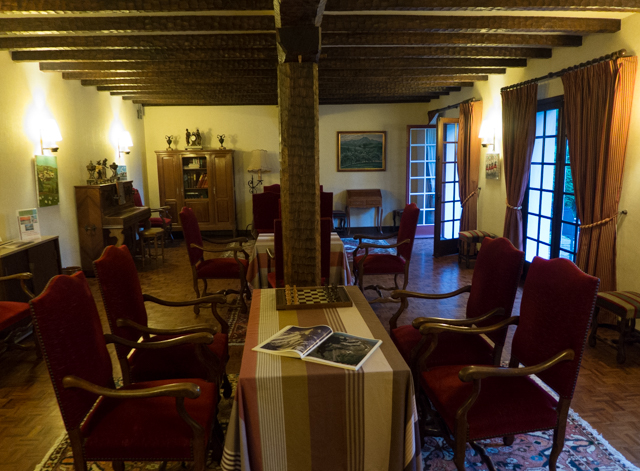 Beautiful interior on our little hotel in Ainhoa.