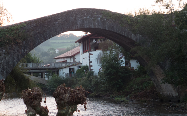 We walked in the footsteps of past inhabitants across the old Roman bridge at St-Étienne-de-Baïgorry.