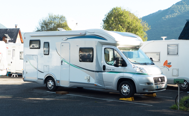 A typical European RV.  This is about as large as they get because of the European roads.
