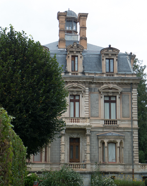 Many stately old mansions remain from the early 1900s when Luchon's thermal baths were so popular.