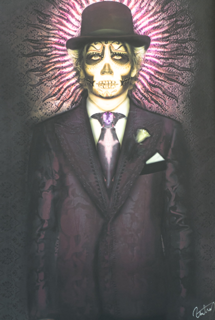 The artwork reflected the Day of the Dead theme.