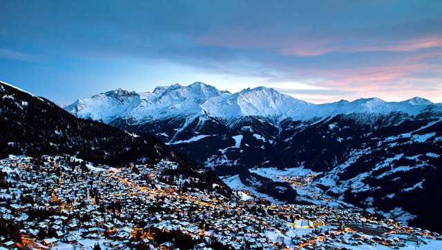 Verbier in winter.