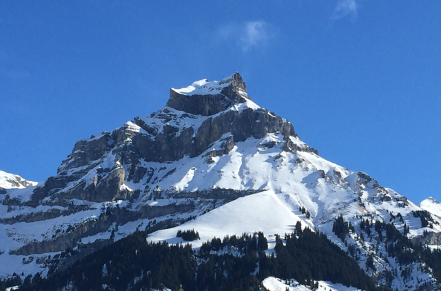 One of the more interesting peaks above Engelberg.  It reminded us of a corkscrew.