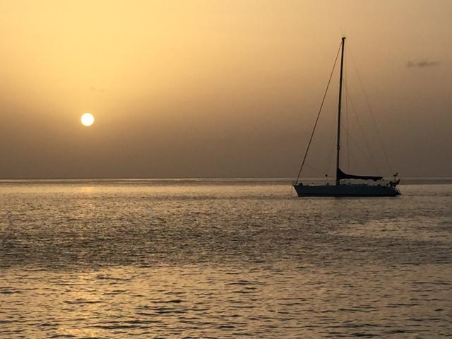 We caught a beautiful sunset on Guadeloupe.