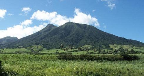 Mt. Liamuiga - view from sea level.