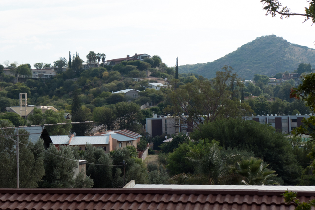 View of Windhoek (Namibia's capital city) from our hotel.  Green, clean and orderly, Windhoek is a bit of an oasis.