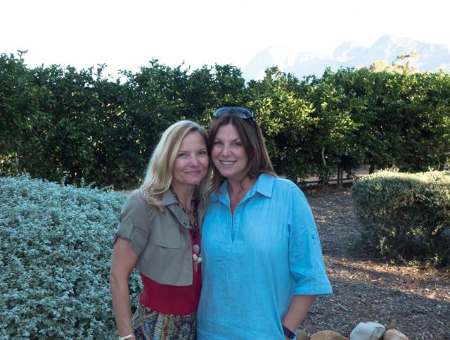 Shauna and Brandy enjoying the 10+ acres of gardens at Babylonstoren.