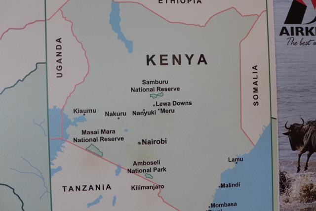 The Maasai Mara Reserve is in the southwest corner of Kenya.