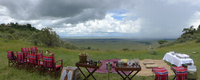 On our last day, we had a long picnic on what we dubbed the Redford/Streep saddle, Out of Africa style.