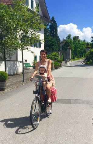 It is about 10 min. on bike.
