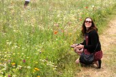 Donna and wildflowers