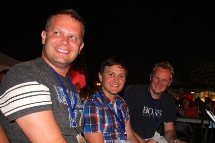 Jim, Antony and Dave at RibFest 2013.