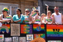 Teachers' float: supporting diversity and LGBTQ youth.