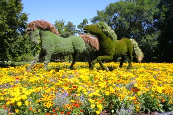 Giant horses from The Man Who Planted Trees