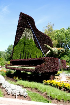 Japan, Hamamatsu, City of Creativity: Looking Toward the Future Through a Symbiosis of Man and Nature. It's a turtle coming out of a piano.