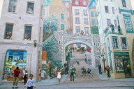 The mural at Place Royale