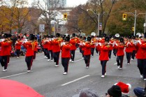 Marching flautists
