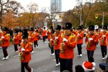 Marching saxophonists
