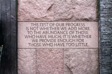 At the FDR memorial