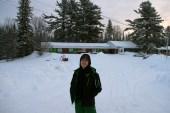 Glen in front of the motel.
