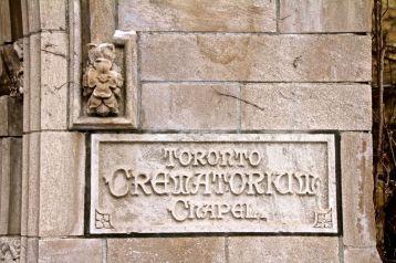 Cool lettering at the Crematorium