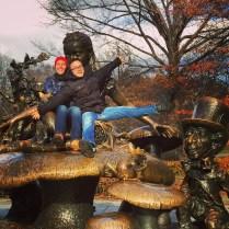 Alice in Wonderland sculpture