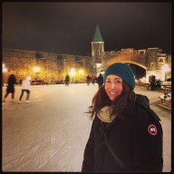 Skating at Place d'Youville