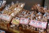 Dried mushrooms in the market