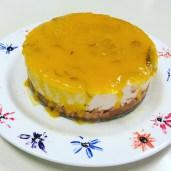 Cake 1: White chocolate cheesecake