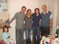 Talia, Jackson, Monica, Lúcia e Carlos