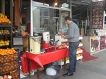 Vendedor de suco de romã