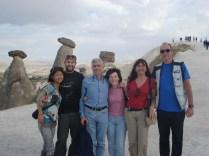 Turma: Miu (japonesa), Alex (italiano), Carlos e Isabel (espanhóis) e nós