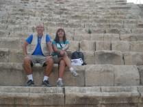 Teatro sul, estamos sentados nos assentos vips da época que tinham a melhor vista