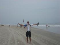 Praia de Benaulim, menos gente e mais praia. Praia de areia.