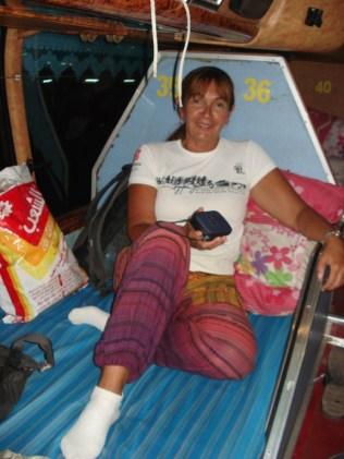 Nossa cama de casal no ônibus