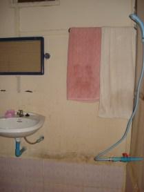 O banheiro com a famosa pia do Carlos