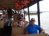 Barco só para nós turistas e não éramos muitos